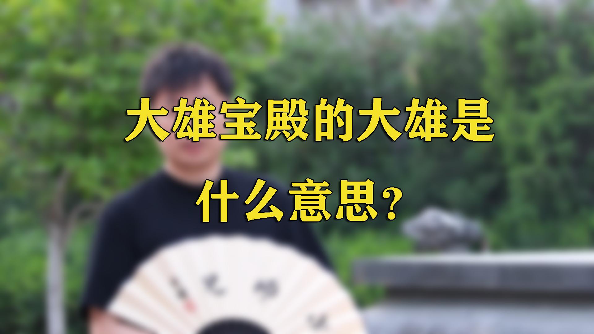 《问禅小师兄》第九期:大雄宝殿的大雄是什么意思?